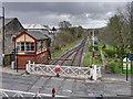 SD7916 : Bridge Street Level Crossing and Signal Box, Ramsbottom by David Dixon