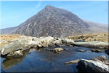 SH6459 : Pen yr Ole Wen viewed from the Afon Idwal by Robin Drayton
