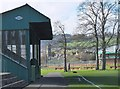 NT2540 : Stand at Whitestone Park playing fields, Peebles by Jim Barton