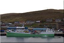 HU4642 : MV Oysund at Holmsgarth, Lerwick by Mike Pennington
