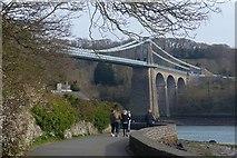 SH5571 : Belgian Promenade, Menai Bridge by Robin Drayton