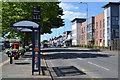 SK0405 : Bus stop for Warren Place, High Street A452, Brownhills by Robin Stott