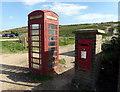 TV5596 : Telephone Kiosk at Birling Gap by PAUL FARMER