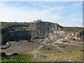 SK2854 : Wirksworth: across Middle Peak Quarry by John Sutton