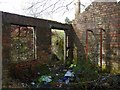 NS4673 : Remains of a turbine house by Lairich Rig