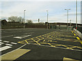 SE1628 : Low Moor station: car park (east end) by Stephen Craven