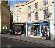 SP0202 : Market Place shops, Cirencester by Jaggery