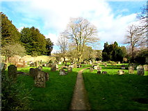 SP0202 : Path through the Parish churchyard, Cirencester by Jaggery