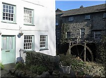 NY3704 : Water wheel on Stock Ghyll, Ambleside by Andrew Curtis