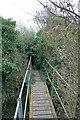 TR3454 : Footpath EE365 footbridge over South Stream by Hugh Craddock