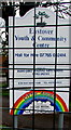 ST3036 : Eastover Youth & Community Centre name sign, All Saints Terrace, Bridgwater by Jaggery