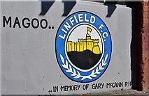 J3272 : Linfield mural, Tate's Avenue, Belfast (April 2017) by Albert Bridge