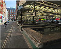 SK5804 : Leicester Market on a Sunday afternoon by John Sutton