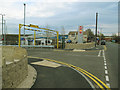 SE1628 : Low Moor station: vehicular entrance by Stephen Craven