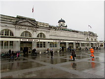 ST1875 : Main entrance to Cardiff Central railway station by Jaggery