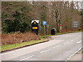 NH5632 : Layby and AA Box 631 at Brachla by David Dixon