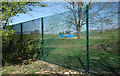 SU6165 : Big Green Fence by Des Blenkinsopp