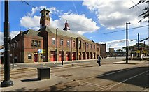 SD8912 : Rochdale Fire Station by Gerald England