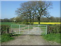 SO9658 : Gated farm track near Hill Top Farm by JThomas