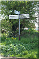 TM3555 : Signpost off School Road by Adrian Cable