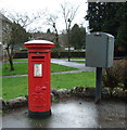 NS7278 : George V postbox on Stirling Road, Kilsyth by JThomas