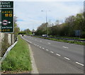 ST3094 : A4042 towards Turnpike Roundabout, Cwmbran by Jaggery
