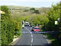SZ4881 : Road accident, Billingham by Robin Webster