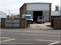 ST3037 : East Quay electricity substation, Bridgwater by Jaggery