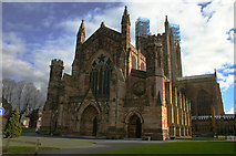 SO5039 : Hereford Cathedral by Malcolm Neal