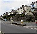 SS9178 : Pedestrian refuge in Cowbridge Road, Bridgend by Jaggery