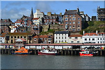 NZ8911 : Fish quay seen across the harbour, Whitby by David Martin