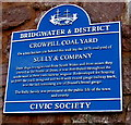 ST2937 : Crowpill Coalyard blue plaque, Bridgwater by Jaggery