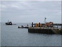 SY3491 : Lyme Regis,  dredging harbour entrance 2017 by John Stephen