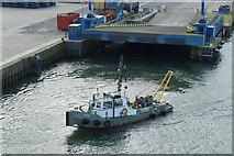 NJ9505 : Survey boat F48 in Aberdeen Harbour by Mike Pennington