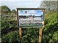 ST4543 : Somerset Wildlife Trust Sign 'Westhay Moor' by PAUL FARMER