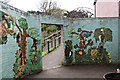 SH8378 : Relief mural at Welsh Mountain Zoo by Richard Hoare