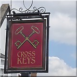 SK6443 : Sign of the Cross Keys by David Lally
