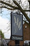 SK6443 : The sign of The Wheatsheaf by David Lally