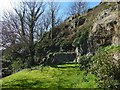 NS3974 : Dumbarton Castle: terrace near the Governor's House by Lairich Rig