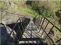 NS3974 : Dumbarton Castle: steps on the Portcullis Arch by Lairich Rig