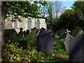 SK5907 : Gravestones at St Peter's Church in Belgrave by Mat Fascione