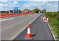 SK5709 : Construction work along Leicester Road in Thurcaston by Mat Fascione