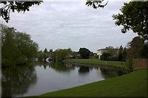 TQ0866 : Thames path near Manor Park looking westward by Robert Eva