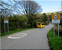 SN9347 : Llangammarch Wells - Please drive carefully by Jaggery