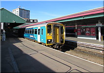 SS6593 : Shrewsbury train at Swansea railway station platform 4 by Jaggery