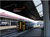 SS6593 : Electronic display, platform 4, Swansea railway station by Jaggery