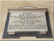TG2834 : St Botolph, Trunch: memorial (vii) by Basher Eyre