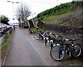ST7082 : Open-air bicycle parking area near Yate railway station by Jaggery