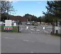 SN9347 : Llangammarch Wells Depot entrance gates by Jaggery