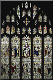 TQ1469 : St Mary the Virgin, Hampton - Stained glass window by John Salmon